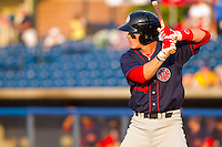 Bryce Harper #34 of the Hagerstown Suns at bat against the Rome Braves at State Mutual Stadium on April 30, 2011 in Rome, Georgia.   Photo by Brian Westerholt / Four Seam Images