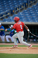 Philadelphia Phillies Wilfredo Flores (2) at bat during an Instructional League game against the Toronto Blue Jays on September 23, 2019 at Spectrum Field in Clearwater, Florida.  (Mike Janes/Four Seam Images)