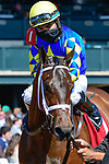 April 03, 2021: Jouster #1 ridden by Luis Saez wins the Appalachian Stakes (Grade 2) on Blue Grass Stakes Day at Keeneland Race Course in Lexington, Kentucky on April 03, 2021. Jessica Morgan/Eclipse Sportswire/CSM