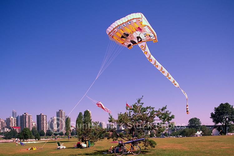 Vancouver, BC, British Columbia, Canada - Kite Flying at Vanier Park, Summer