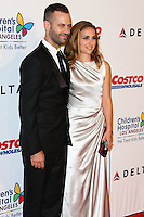LOS ANGELES, CA, USA - OCTOBER 11: Benjamin Millepied, Natalie Portman arrive at the Children's Hospital Los Angeles' Gala Noche De Ninos 2014 held at the L.A. Live Event Deck on October 11, 2014 in Los Angeles, California, United States. (Photo by Xavier Collin/Celebrity Monitor)