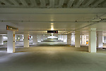 Underground parking garage at the OHSU Center for Health and Healing, South Waterfront, Portland Oregon