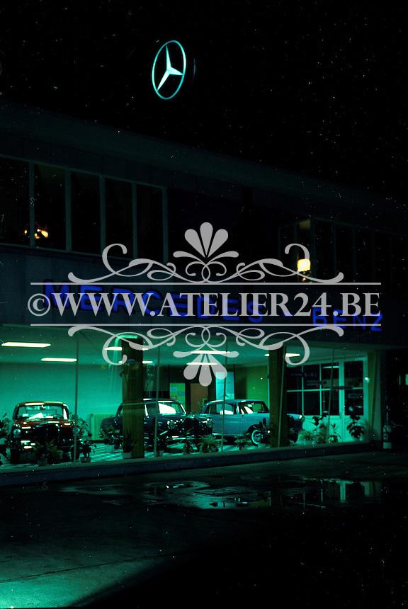 Mercedes-Benz garage.