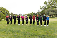 STANFORD, CA - APRIL 25: Angelina Ye, Alyaa Abdulghany, Briana Chacon, Alessandra Fanali, Amelia Garvey, Linn Grant, Rachel Heck, YuSang Hou, Hsin-Yu Lu, Ellie Slama, Emma Spitz at Stanford Golf Course on April 25, 2021 in Stanford, California.