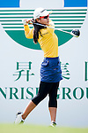 TAOYUAN, TAIWAN - OCTOBER 21: Heo Young Park of South Korea tees off on the 1st hole during day three of the LPGA Imperial Springs Taiwan Championship at Sunrise Golf Course on October 22, 2011 in Taoyuan, Taiwan. Photo by Victor Fraile / The Power of Sport Images