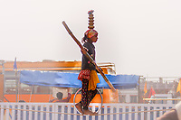 Asia,India,Punjab, Anandpur Sahib, sikh tightrope walker tatthe Holla Mohalla annual festival