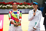 Indian Sania Mirza and Swiss Martina Hingis during Doubles Woman Final Mutua Madrid Open Tennis 2016 in Madrid, May 07, 2016. (ALTERPHOTOS/BorjaB.Hojas)