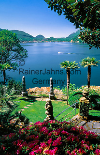 Schweiz, Tessin, Morcote: Parco Scherrer | Switzerland, Ticino, Morcote: Parco Scherrer