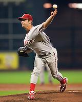 Moyer, Jamie 6124.jpg Philadelphia Phillies at Houston Astros. Major League Baseball. September 7th, 2009 at Minute Maid Park in Houston, Texas. Photo by Andrew Woolley.