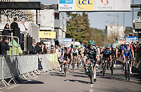 Sam Bennett (IRE/BORA - hansgrohe) wins the bunch sprint<br /> <br /> Stage 6: Peynier to Brignoles (176km)<br /> 77th Paris - Nice 2019 (2.UWT)<br /> <br /> ©kramon