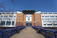 Exterior view of the stadium prior the Sky Bet Championship match between Sheffield Wednesday and Swansea City at Hillsborough Stadium, Sheffield, England, UK. Saturday 23 February 2019
