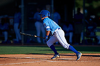 AZL Royals Jimmy Govern (8) at bat during an Arizona League game against the AZL Brewers Blue at Surprise Stadium on June 18, 2019 in Surprise, Arizona. AZL Royals defeated AZL Brewers Blue 12-7. (Zachary Lucy/Four Seam Images)