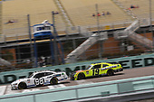 HOMESTEAD, FLORIDA - JUNE 14: Chase Briscoe, driver of the #98 Ford Performance Racing School Ford, crosses the finish line ahead of Brandon Jones, driver of the #19 Menards/Fisher Toyota, to win the NASCAR Xfinity Series Contender Boats 250 at Homestead-Miami Speedway on June 14, 2020 in Homestead, Florida. (Photo by Chris Graythen/Getty Images)