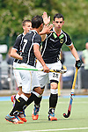 GER - Mannheim, Germany, May 25: During the U16 Boys match between The Netherlands (orange) and Germany (black) during the international witsun tournament on May 25, 2015 at Mannheimer HC in Mannheim, Germany. Final score 3-4 (1-2). (Photo by Dirk Markgraf / www.265-images.com) *** Local caption *** Yannick Dehoff #28 of Germany