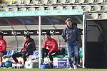 08.11.2020, Dietmar-Scholze-Stadion an der Lohmuehle, Luebeck, GER, 3. Liga, VfB Luebeck vs KFC Uerdingen 05 <br /> <br /> im Bild / picture shows <br /> Trainer Stefan Krämer/Kraemer (KFC Uerdingen 05) blickt gequaelt<br /> <br /> DFB REGULATIONS PROHIBIT ANY USE OF PHOTOGRAPHS AS IMAGE SEQUENCES AND/OR QUASI-VIDEO.<br /> <br /> Foto © nordphoto / Tauchnitz