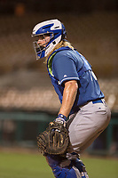 Los Angeles Dodgers catcher Garrett Hope (72) during a Minor League Spring Training game against the Seattle Mariners at Camelback Ranch on March 28, 2018 in Glendale, Arizona. (Zachary Lucy/Four Seam Images)