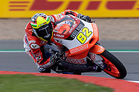 27th August 2021; Silverstone Circuit, Silverstone, Northamptonshire, England; MotoGP British Grand Prix, Practice Day; BOE Owlride rider Stefano Nepa on his KTM RC250GP in the Moto3 category