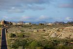 RN 7 in Isalo mountains..RN7 dans le massif de l Isalo