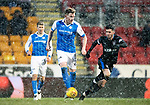 St Johnstone v Rangers…27.02.18…  McDiarmid Park    SPFL<br />Liam Craig closed down by Sean Goss<br />Picture by Graeme Hart. <br />Copyright Perthshire Picture Agency<br />Tel: 01738 623350  Mobile: 07990 594431