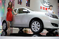 BYD L3 sedan at the Beijing Auto Show in Beijing, China. The car show has attracted all the world's major auto markers. China's vehicle sales have breached the 10-million barrier for the first time ever, with 10.9 million automobiles sold last year. .24 Apr 2010