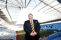 Photo: Richard Lane/Richard Lane Photography. Wasps Open Training Session at the Ricoh Arena ahead of their first game at the stadium. 16/12/2014. Wasps' Director of Rugby, Dai Young.