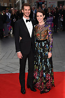 """Andrew Garfield and Claire Foy<br /> arriving for the London Film Festival 2017 screening of """"Breathe"""" at the Odeon Leicester Square, London<br /> <br /> <br /> ©Ash Knotek  D3318  04/10/2017"""