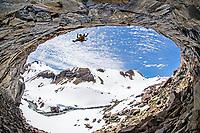 Lucho Birkner on 'Oh baby' 8a+, Los Huasamacos del Sur - cave sector; Valle des los Condores, Chile