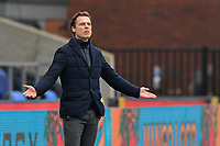 Scott Parker manager of Fulham gestures during the Premier League behind closed doors match between Crystal Palace and Fulham at Selhurst Park, London, England on 28 February 2021. Photo by Vince Mignott / PRiME Media Images.