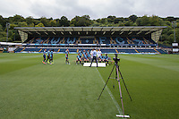 The 2015/16 team photo is set up during Wycombe Wanderers Team Photoshoot 2015  at Adams Park, High Wycombe, England on 3 August 2015. Photo by PRiME Media Images.