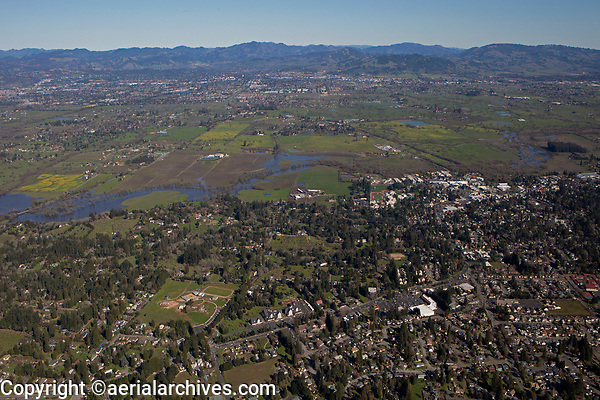 aerial photograph of Sebastopol, Sonoma County, California
