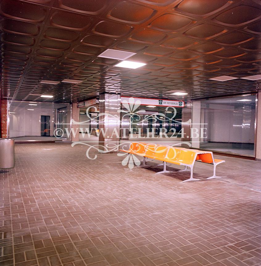 December 1979. Bouw premetro in Antwerpen.