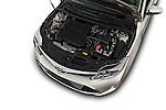 Car Stock 2018 Toyota Avalon XLE 4 Door Sedan Engine  high angle detail view