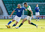 Hibs v St Johnstone…22.09.21  Easter Road.    SPFL<br />Chris kane and Paul McGinn<br />Picture by Graeme Hart.<br />Copyright Perthshire Picture Agency<br />Tel: 01738 623350  Mobile: 07990 594431