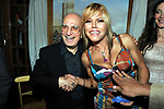 """DON SANTINO SPARTA CON FLORIANA SECONDI<br /> """"PARTY ANTICRISI CON ESORCISMI"""" DI PAOLO PAZZAGLIA<br /> PALAZZO FERRAJOLI  ROMA 2011"""