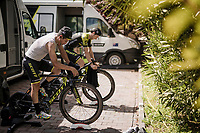 Esteban Chavez (COL/Mitchelton-Scott) during the morning pre-race warm-up (at the team hotel)<br /> <br /> Stage 1 (ITT): Bologna to Bologna/San Luca (8.2km)<br /> 102nd Giro d'Italia 2019<br /> <br /> ©kramon