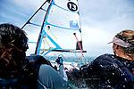 ISAF Sailing World Cup Hyères - Fédération Française de Voile. 49erFX, Sarah Stayaert,  Lili Sebesi.