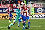 FC Barcelona's Denis Suarez (L) -and Atletico de Madrid's defender Filipe Luis (R) competes for the ball with  during the match of Copa del Rey between Atletico de  Madrid and Futbol Club Barcelona at Vicente Calderon Stadium in Madrid, Spain. February 1st 2017. (ALTERPHOTOS/Rodrigo Jimenez)