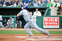Southern Divisions second baseman Bret Boswell of the Asheville Tourists swings at a pitch during the South Atlantic League All Star Game at First National Bank Field on June 19, 2018 in Greensboro, North Carolina. The game Southern Division defeated the Northern Division 9-5. (Tony Farlow/Four Seam Images)