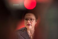 Andrea Nahles, Fraktionsvorsitzende derSPD im Bundestag am Dienstag den 19. Februar 2019 beim Pressestatement vor der woechentlichen Fraktionssitzung.<br /> 19.2.2019, Berlin<br /> Copyright: Christian-Ditsch.de<br /> [Inhaltsveraendernde Manipulation des Fotos nur nach ausdruecklicher Genehmigung des Fotografen. Vereinbarungen ueber Abtretung von Persoenlichkeitsrechten/Model Release der abgebildeten Person/Personen liegen nicht vor. NO MODEL RELEASE! Nur fuer Redaktionelle Zwecke. Don't publish without copyright Christian-Ditsch.de, Veroeffentlichung nur mit Fotografennennung, sowie gegen Honorar, MwSt. und Beleg. Konto: I N G - D i B a, IBAN DE58500105175400192269, BIC INGDDEFFXXX, Kontakt: post@christian-ditsch.de<br /> Bei der Bearbeitung der Dateiinformationen darf die Urheberkennzeichnung in den EXIF- und  IPTC-Daten nicht entfernt werden, diese sind in digitalen Medien nach §95c UrhG rechtlich geschuetzt. Der Urhebervermerk wird gemaess §13 UrhG verlangt.]