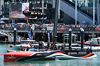13th March 2021; Waitemata Harbour, Auckland, New Zealand;  Emirates Team New Zealand heads out for racing. Day 3 of the America's Cup presented by Prada. Auckland, New Zealand, Saturday the 13th of March 2021.