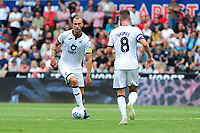 Mike van der Hoorn of Swansea City during the Sky Bet Championship match between Swansea City and Hull City at the Liberty Stadium in Swansea, Wales, UK. Saturday 03 August 2019