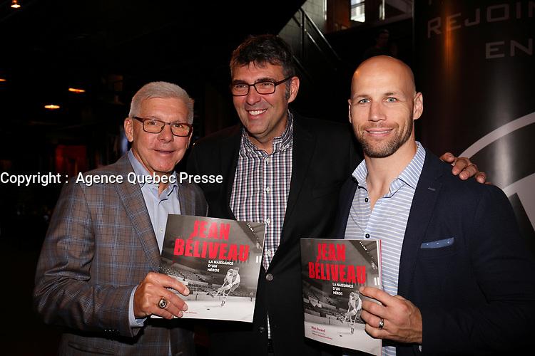 Lancement du livre Jean Beliveau - La naissance d'un heros<br /> , le Jeudi 19 octobre 2017.<br /> <br /> le livre est ecrit par  L'auteur et journaliste sportif  Marc Durand.<br /> <br /> <br /> PHOTO :  <br />  -  Agence quebec Presse