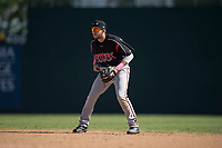 Lake Elsinore Storm second baseman Matthew Batten (29) during a California League game against the Modesto Nuts at John Thurman Field on May 13, 2018 in Modesto, California. Lake Elsinore defeated Modesto 4-3. (Zachary Lucy/Four Seam Images)