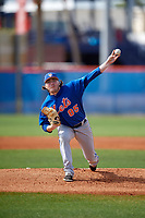 New York Mets pitcher P.J. Conlon (85) during a Minor League Spring Training intrasquad game on March 29, 2018 at the First Data Field Complex in St. Lucie, Florida.  (Mike Janes/Four Seam Images)
