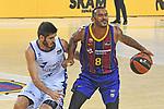 League ACB-ENDESA 2020/2021 - Game: 1.<br /> Barça vs Hereda San Pablo Burgos: 89-86.<br /> Vitor Benite vs Adam Hanga.