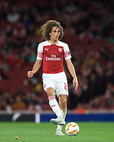 Mattéo Guendouzi of Arsenal during the UEFA Europa League match group between Arsenal and Vorskla Poltava at the Emirates Stadium, London, England on 20 September 2018. Photo by Andrew Aleks / PRiME Media Images.