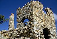 AJ2386, British Virgin Islands, Virgin Gorda, ruin, Caribbean, Virgin Islands, BVI, B.V.I., Copper mine ruins on the island of Virgin Gorda on the British Virgin Islands.