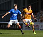 27.09.2020 Motherwell v Rangers:  Filip Helander and Tony Watt