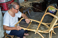 Craftsman Making a Chair in his Workshop, George Town, Penang, Malaysia