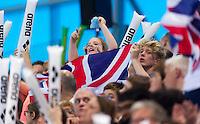 English Supporters<br /> London, Queen Elizabeth II Olympic Park Pool <br /> LEN 2016 European Aquatics Elite Championships <br /> Swimming <br /> Day 11 19-05-2016<br /> Photo Giorgio Perottino/Deepbluemedia/Insidefoto